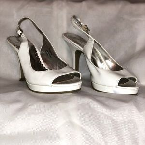 Women's White Heels